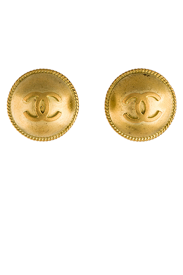 Chanel - CC Dome Earrings