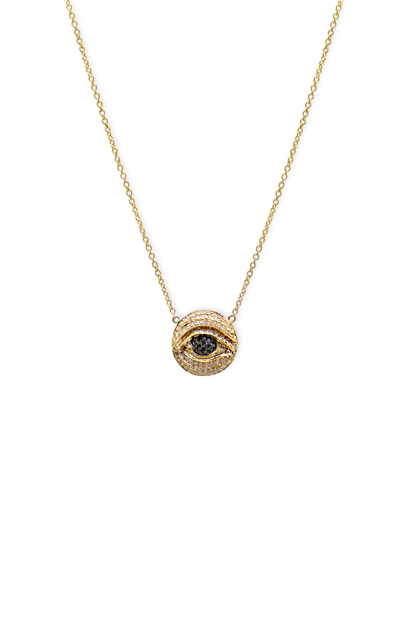 Chains and Pearls - Medium Thirdeye Necklace (14k Yellow Gold)