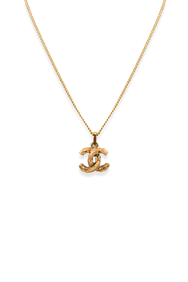 Chanel - 317513922_Switch Jewelry Chanel Vintage X Textured CC Logo Pendant Necklace jpg