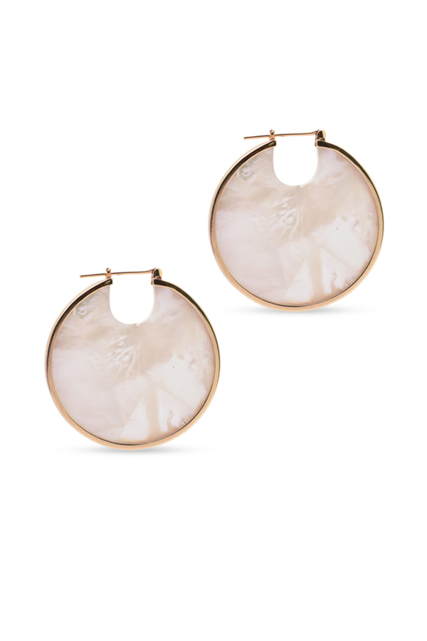 Studio Elke - Eclipse Hoop Earrings   Pearl View 1