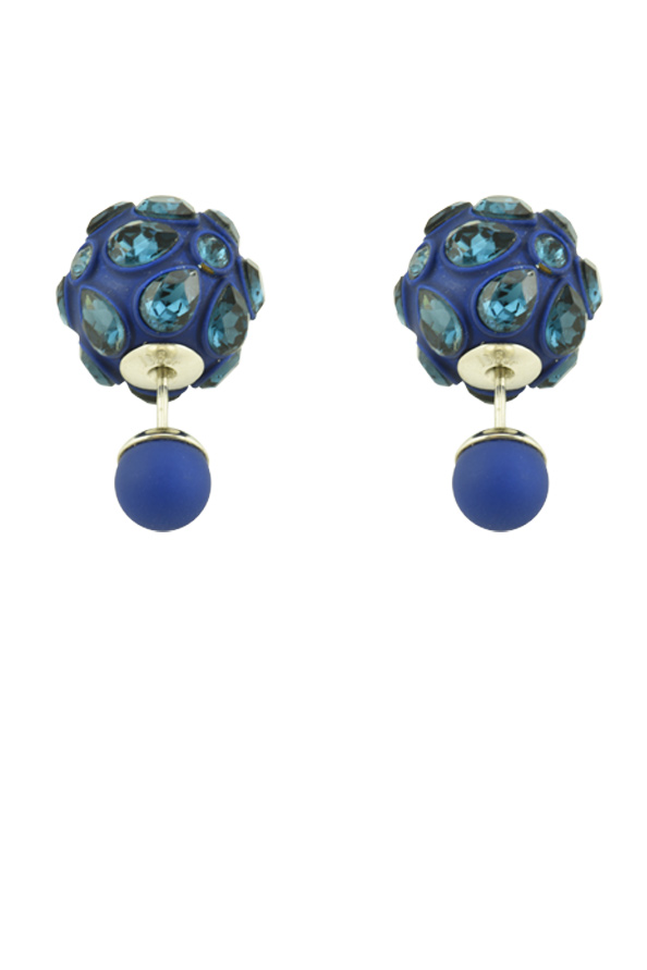 Christian Dior - Mise En Dior Tribale Earrings  Navy Blue  View 1