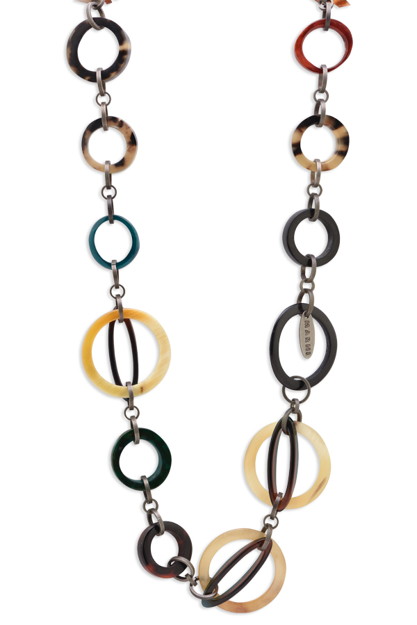 Marni - Multicolor Resin Link Chain Necklace
