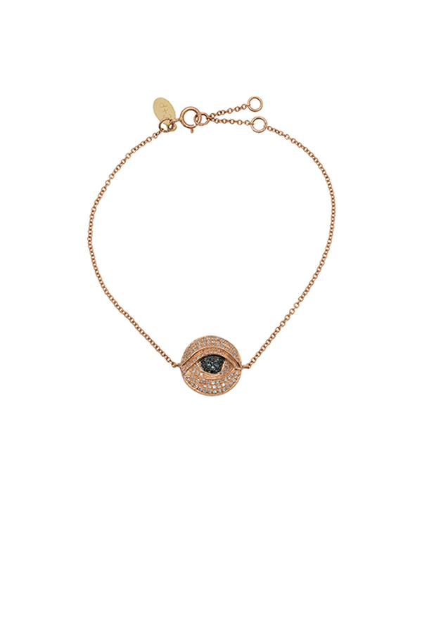 Chains and Pearls - Medium Thirdeye Bracelet (Rose Gold)