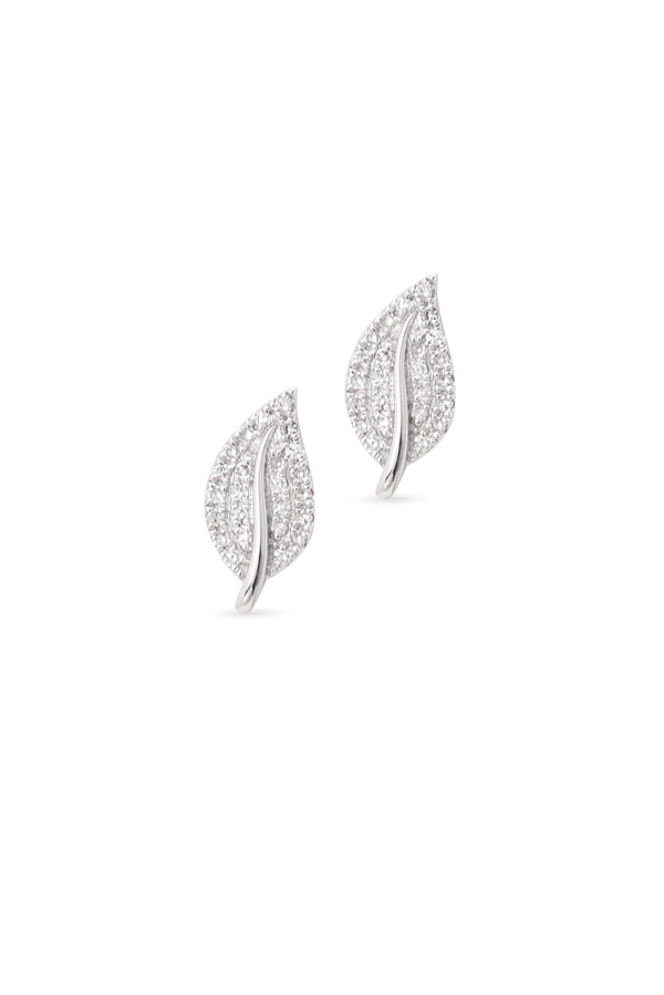 Do Not Disturb - The Amsterdam Stud Earrings (14k White Gold and Diamonds)