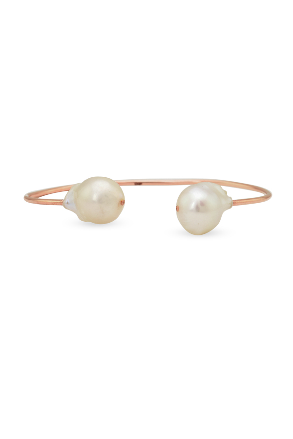 Chains and Pearls - Baroque Pearl Cuff (14k Rose Gold)