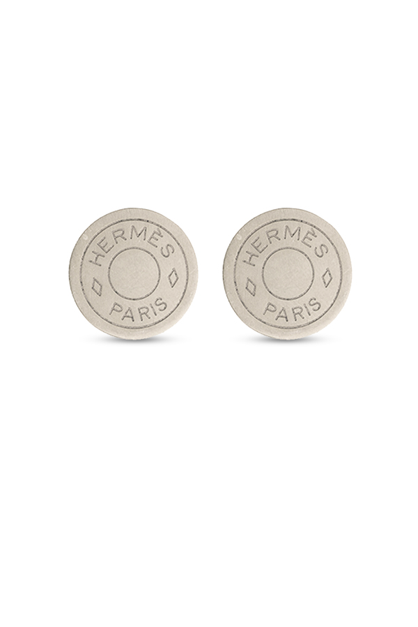 Hermes - Clou De Selle Earrings (Silver-tone)
