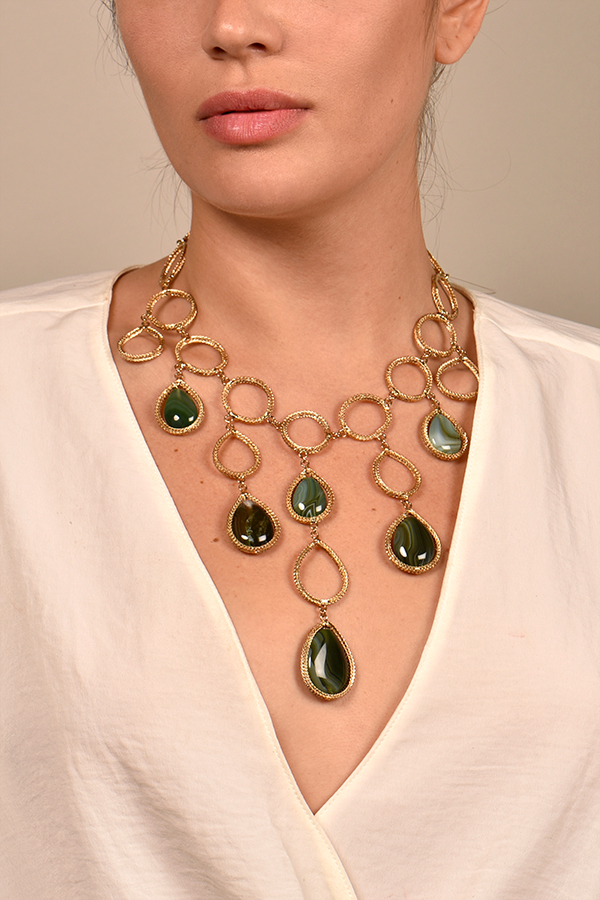 Rosantica - Scarabeo Tear Drop Necklace
