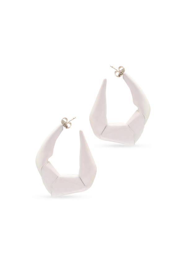 Gaviria - Large Trash Earrings (White)