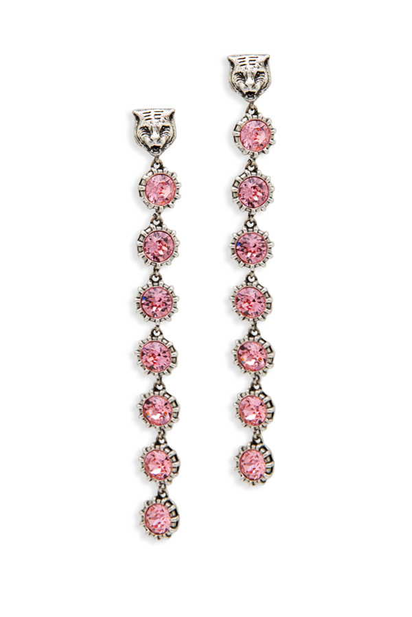 Gucci - 338516898_Switch Jewelry Gucci Feline Pink Crystal Embellished Earrings jpg