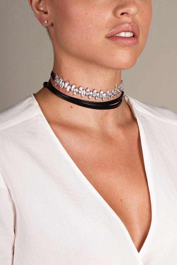 d6831ae4c930e Fallon Jagged Edge Choker   Rent Fallon jewelry for $29/month