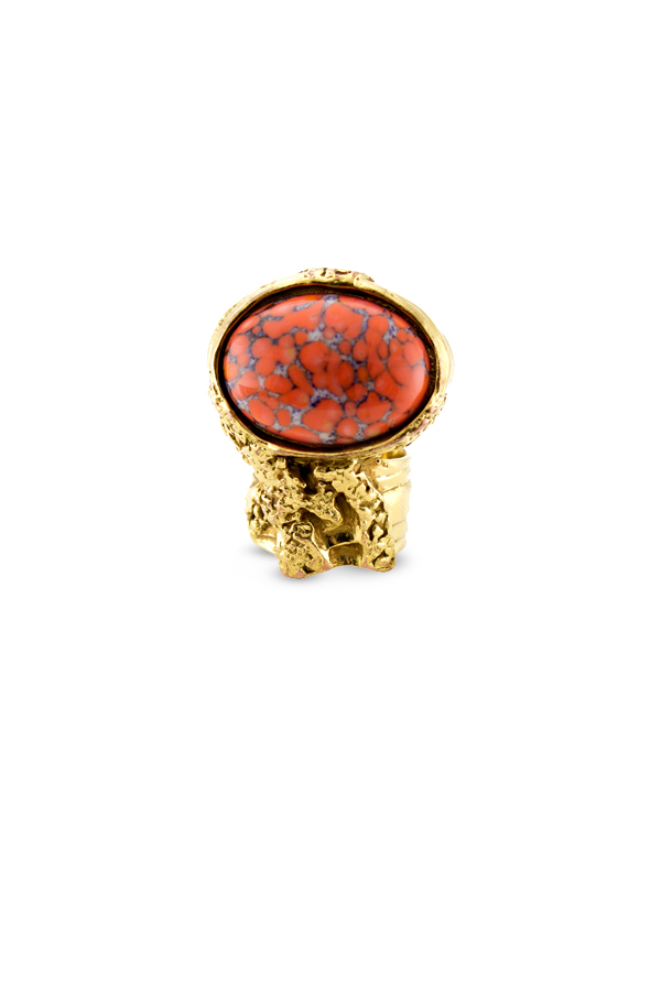 Yves Saint Laurent - Arty Oval Ring  Orange    Size 5 View 1