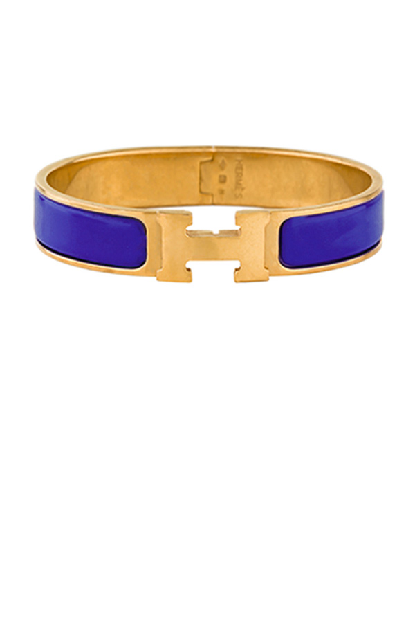 Hermes - Narrow Clic H Bracelet (Royal Blue/Yellow Gold Plated) - GM