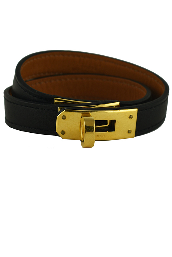 Hermes - Kelly Double Tour Leather Bracelet View 1