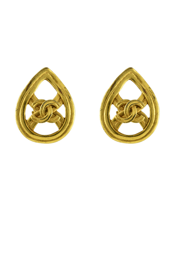 Chanel - 366879335_Switch Jewelry Chanel Vintage Teardrop Motif CC Clip On earrings jpg