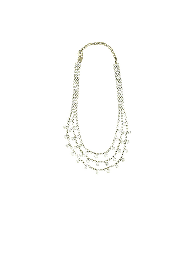 DANNIJO - Crystal Embellished Multi Strand Necklace View 1