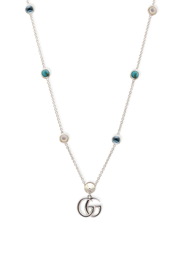 Gucci - Mother of Pearl Double G Pendant Station Necklace