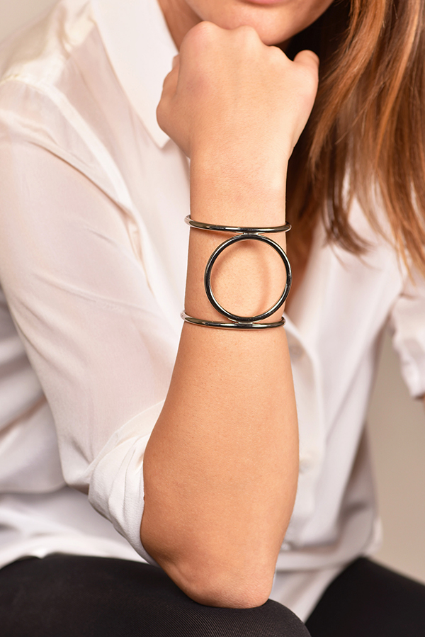 Celine - Circle Cage Cuff View 2