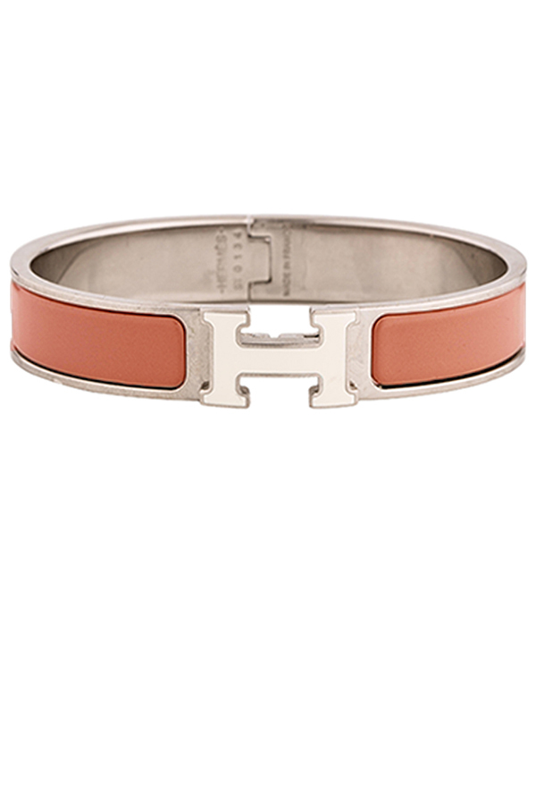 Hermes - Narrow Clic H Bracelet  Coral Palladium Plated    GM View 1