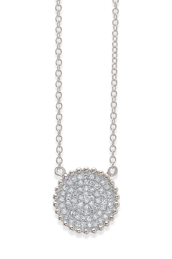 Do Not Disturb - The Bali Necklace (14k White Gold and Diamonds)