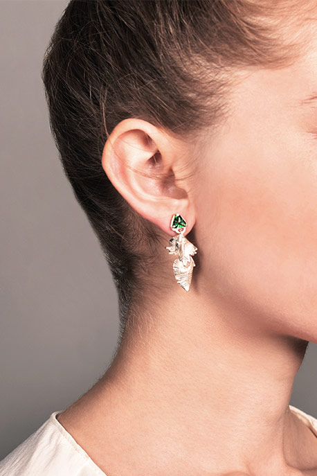 Coline Assade - Detachable Leaves Earrings