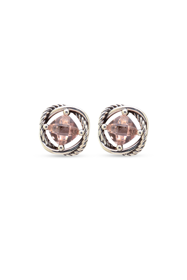 David Yurman - Infinity Stud Earrings (Morganite)