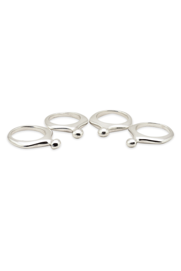 Rebecca Pinto - Peponi Ring (Sterling Silver) Set of Four - Size 7