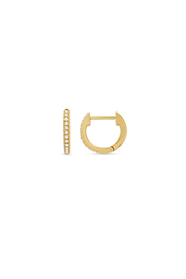 Do Not Disturb - The Zurich Huggie Earrings (14k Yellow Gold And Diamonds)