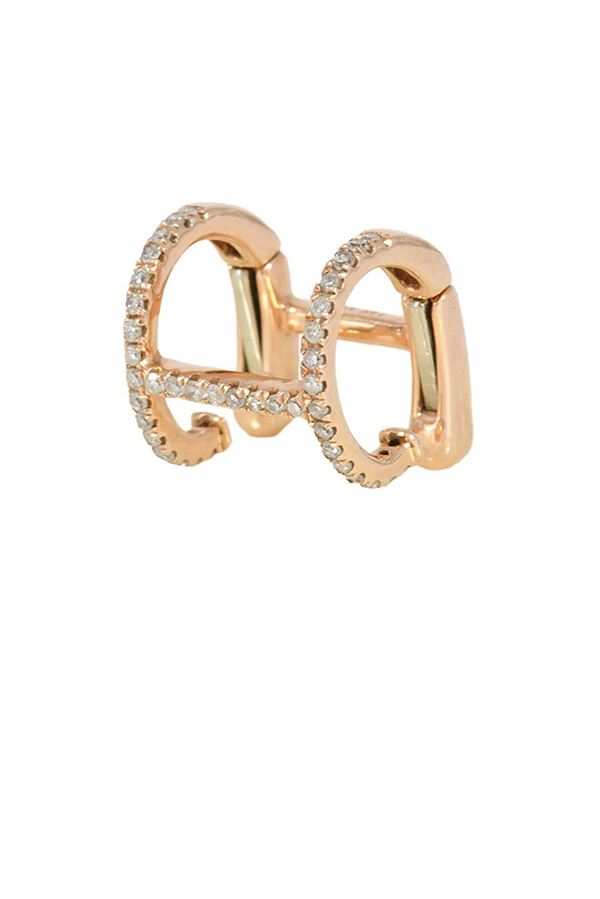 Yu  - H Cuff  14k Rose Gold  View 1