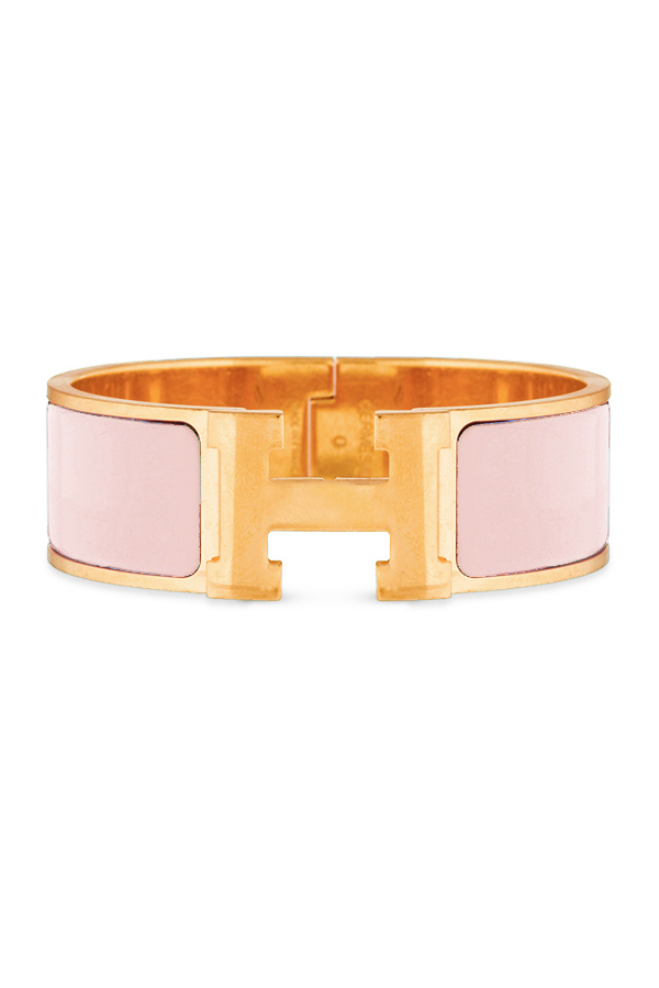 Hermes - Wide Clic H Bracelet (Nude Pink/Yellow Gold Plated) - PM