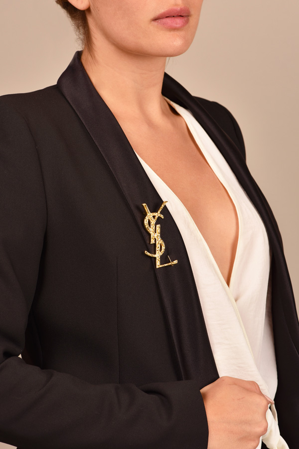 Yves Saint Laurent - Opyum YSL Crocodile Brooch  View 2