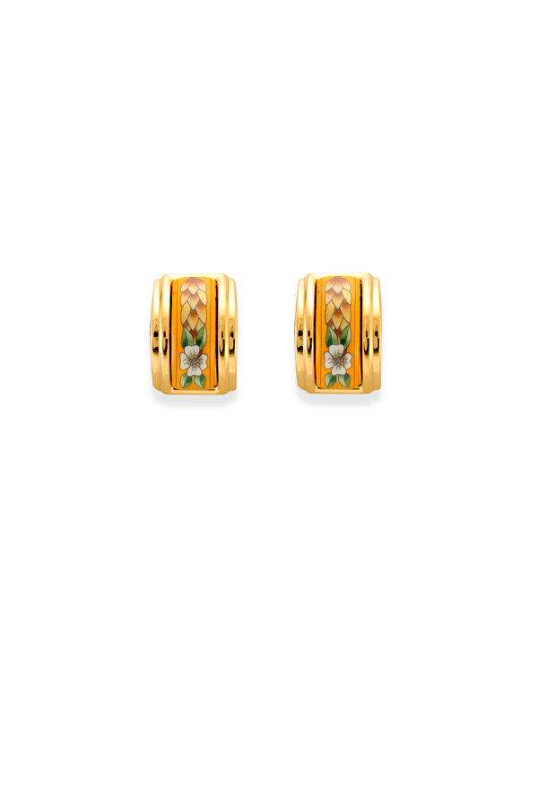Hermes - 503442162_Switch Jewelry Hermes Enamel Clip On Earrings  Yellow Gold  jpg