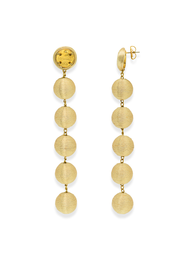 Rebecca De Ravenel - 505176104_Switch Jewelry Rebecca De Ravenel The Shimmy Six Drop Skinny Earrings  Gold  jpg