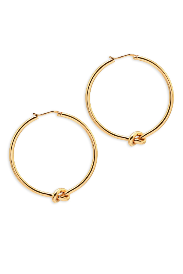 Celine - Knot Large Gold Hoops
