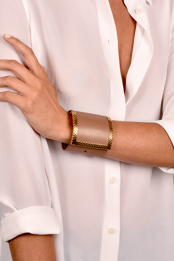 Bottega Veneta - Leather Statement Bracelet