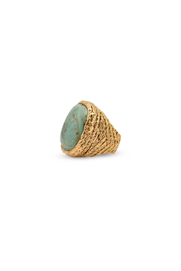 Aurelie Bidermann - Turquoise Miki Ring   Size 6 5 View 2