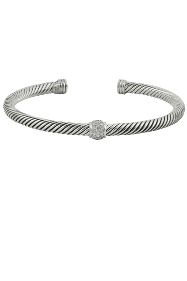David Yurman - 4mm Cable Bracelet With Diamonds View 1