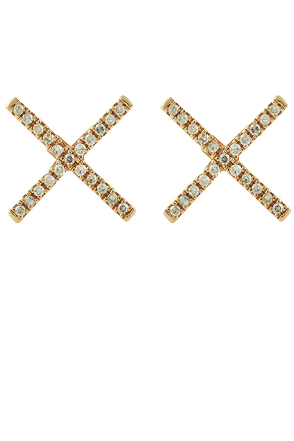 Yu  - X Studs  14k Rose Gold  View 1