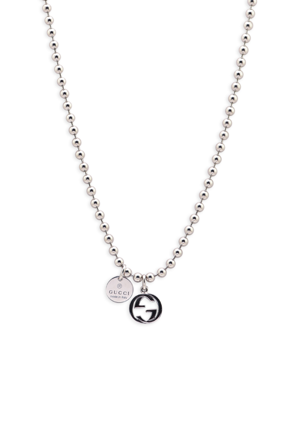 Gucci Interlocking G Charm Toggle Necklace | Rent Gucci jewelry for  $29/month