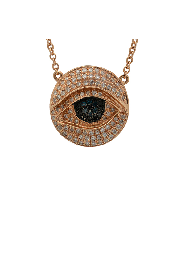 Chains and Pearls - Medium Thirdeye Necklace (Rose Gold)