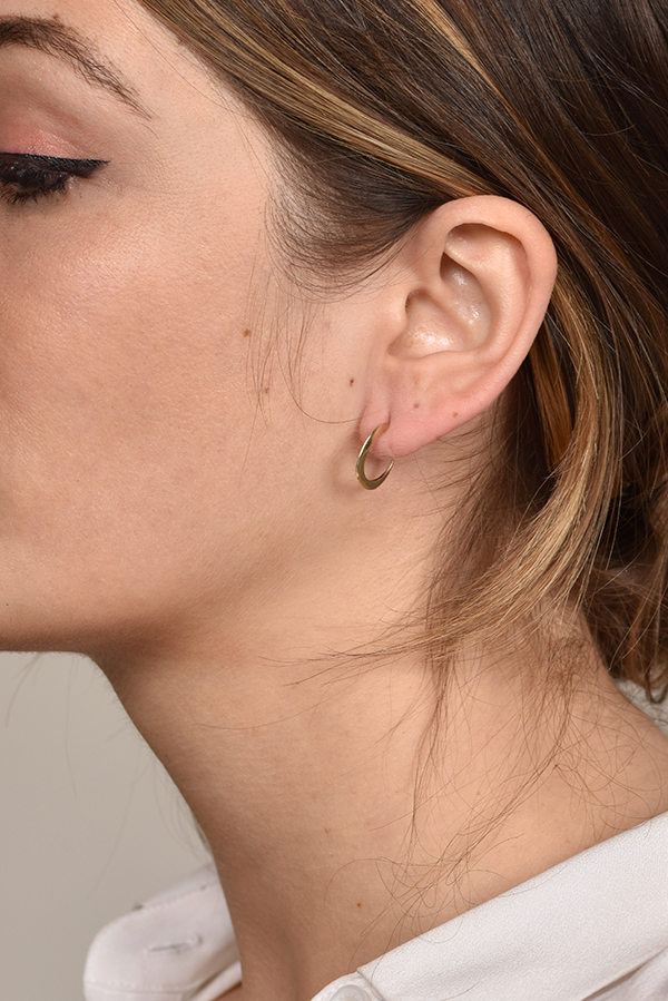 Rebecca Pinto - Manda Hoop Earrings (14k Yellow Gold)