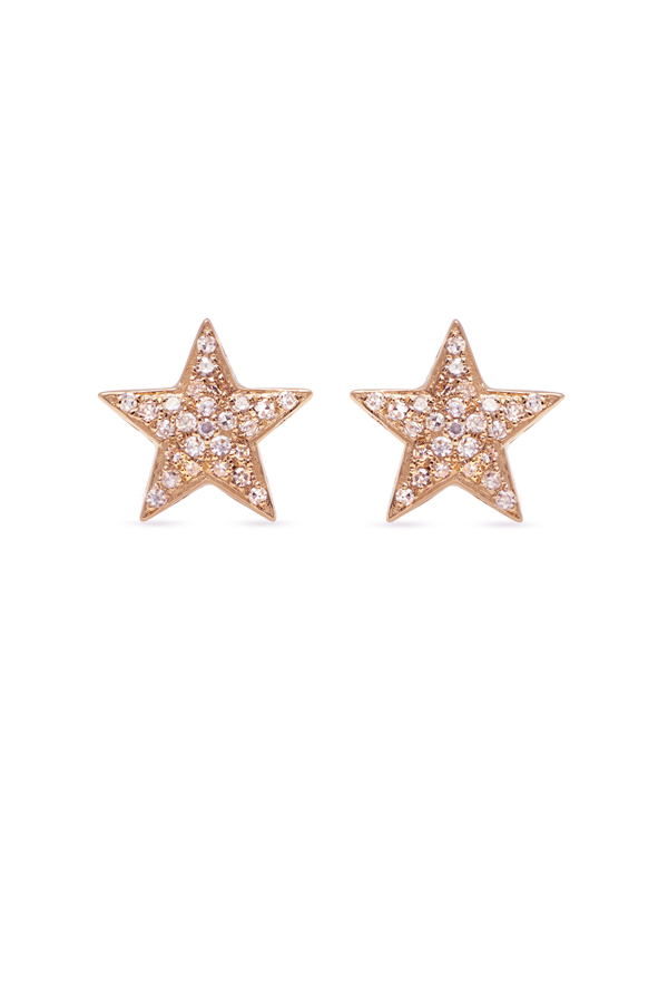 Do Not Disturb - The Sahara Studs  14k Rose Gold and Diamonds  View 2