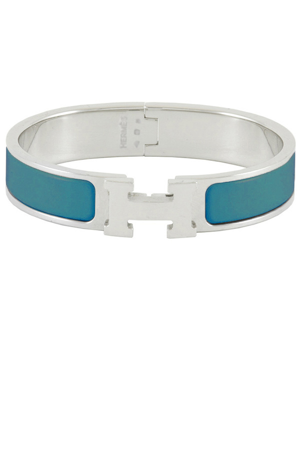 Hermes - Narrow Clic H Bracelet (Deep Blue/Palladium Plated) - PM