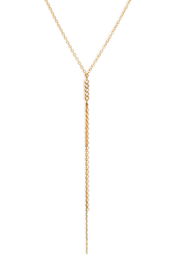 Sophie Ratner - Five Diamond and Chain Necklace