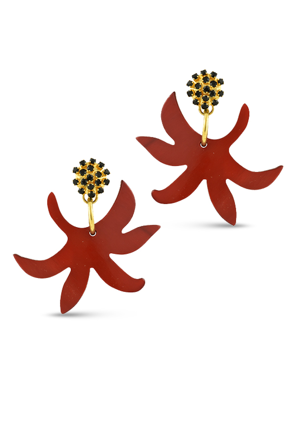 Marni - Floral Drop Clip On Earrings View 1