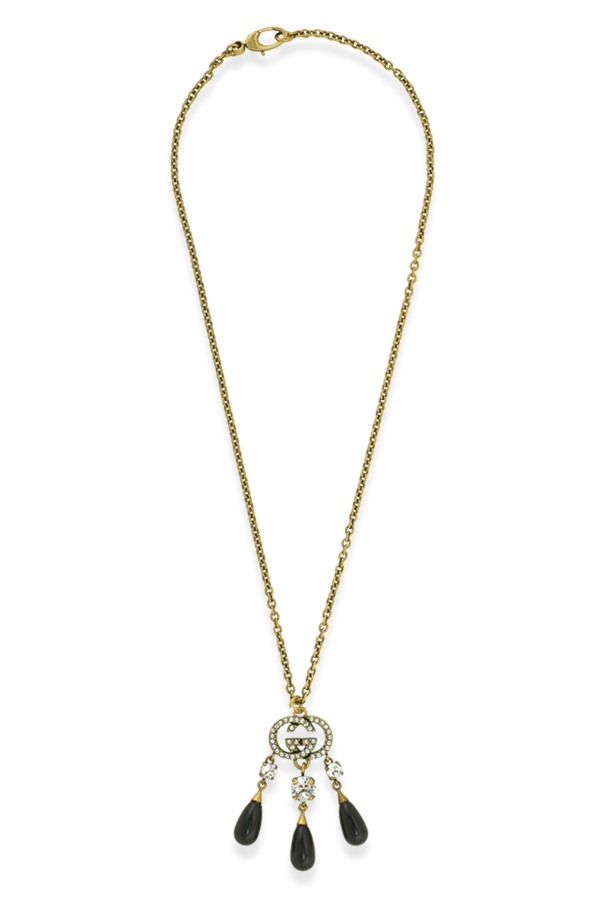 Gucci - Interlocking G Crystal Chandelier Necklace View 1