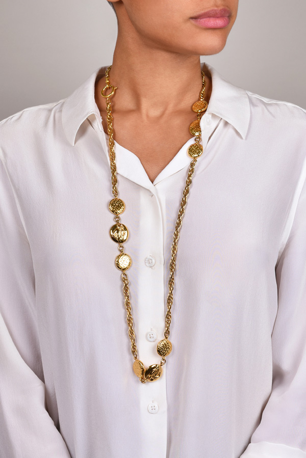 Chanel - Vintage Coco Station Necklace on Singapore Chain