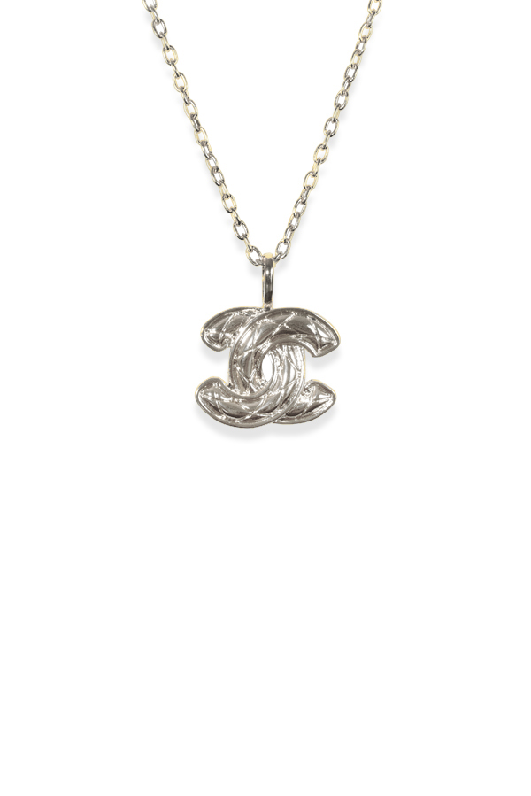 Chanel - Vintage Textured CC Logo Pendant Necklace
