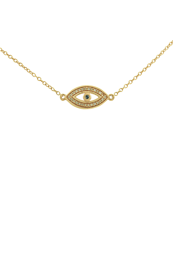 Yu  - Eye Pendant Necklace  14K Rose Gold  View 1