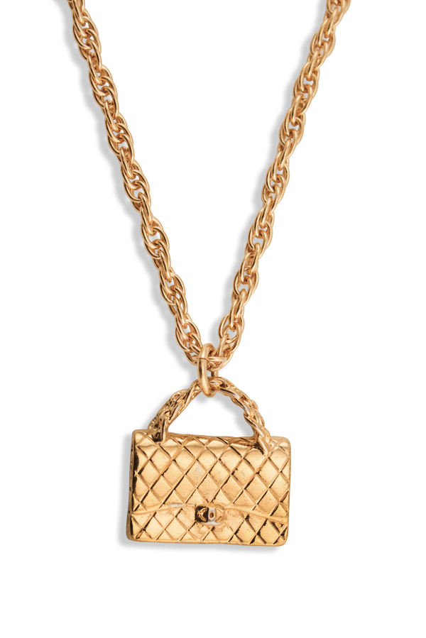 Chanel - Vintage Quilted Bag Charm Pendant Necklace