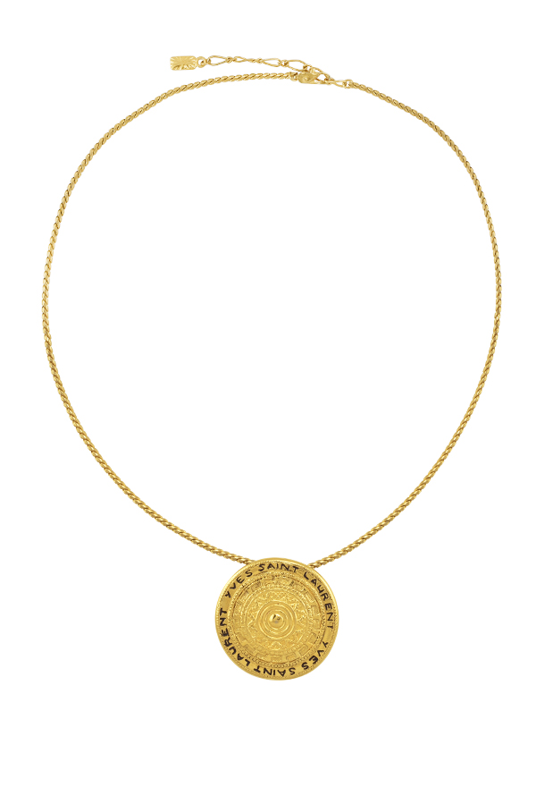 Yves Saint Laurent - Vintage Stamped Medallion Pendant Necklace